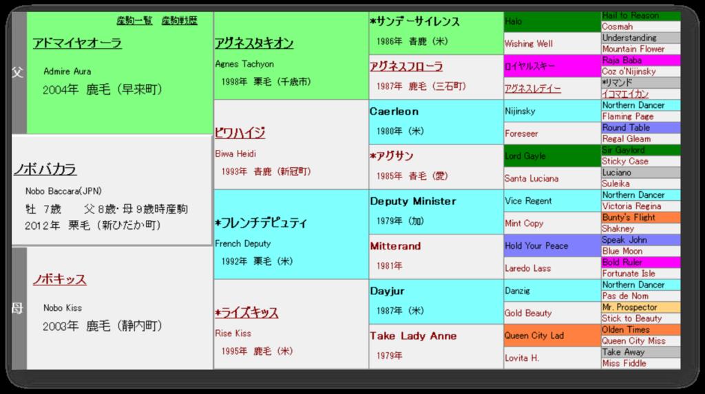 ノボバカラ 血統表